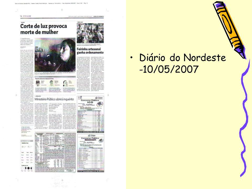 Diário do Nordeste -10/05/2007