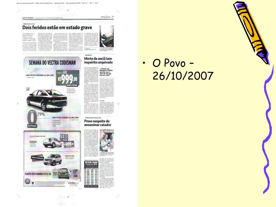 O Povo – 26/10/2007