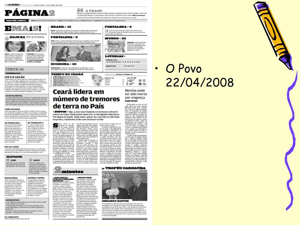 O Povo 22/04/2008