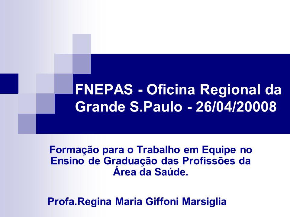 FNEPAS - Oficina Regional da Grande S.Paulo - 26/04/20008