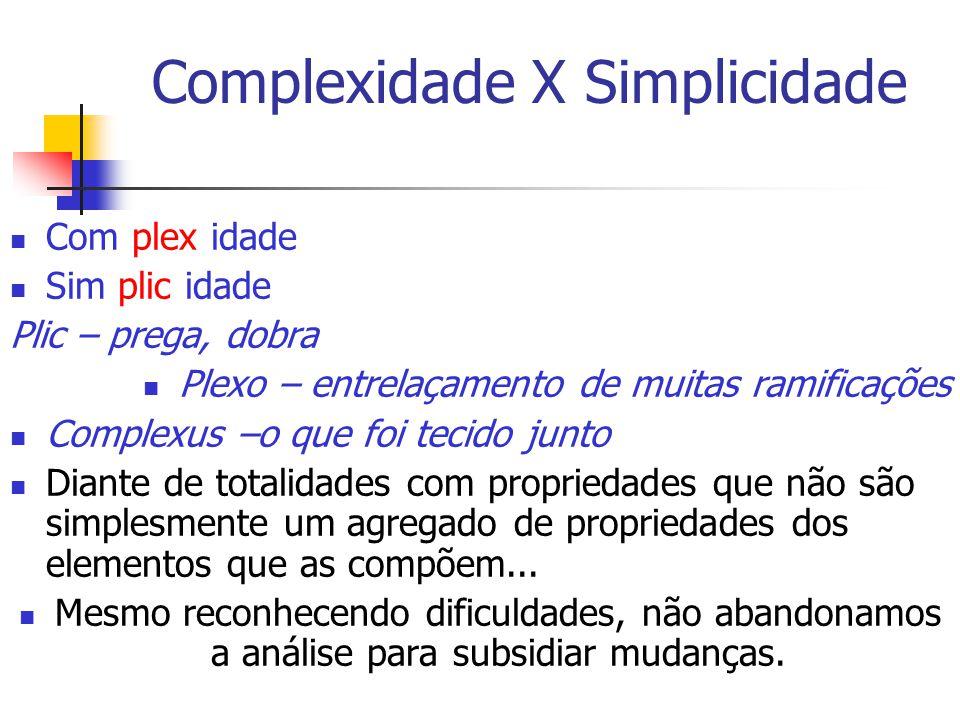 Complexidade X Simplicidade