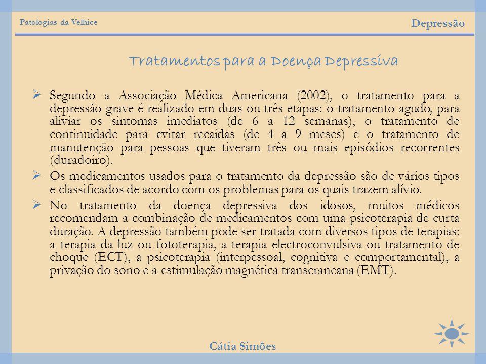 Tratamentos para a Doença Depressiva