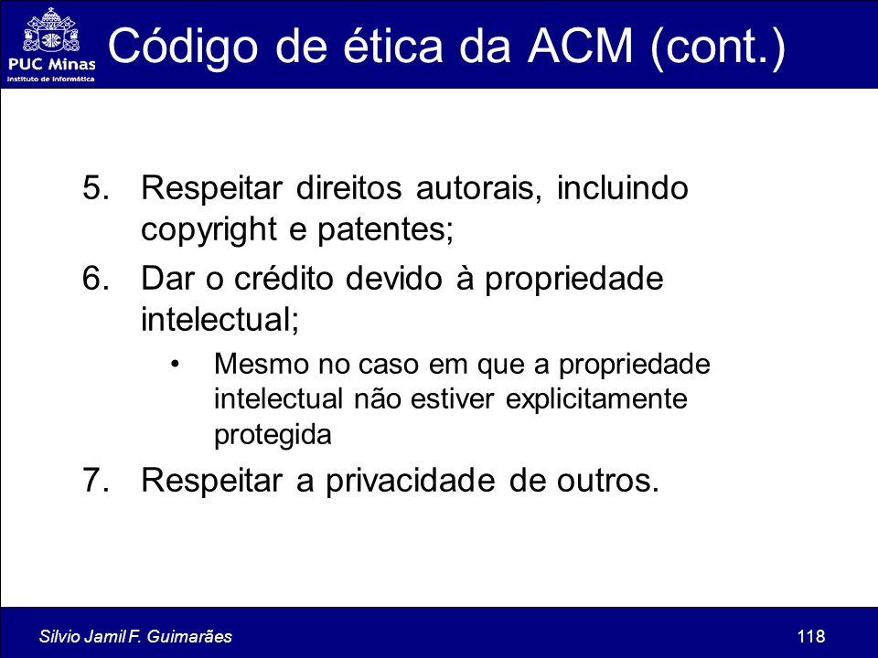 Código de ética da ACM (cont.)