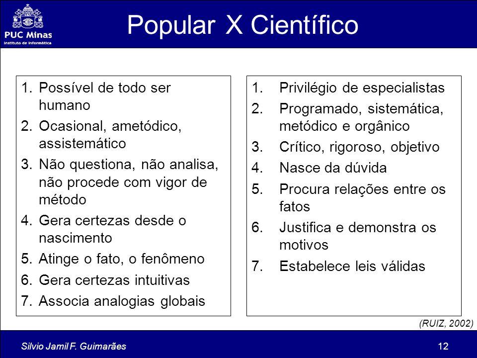 Popular X Científico Possível de todo ser humano
