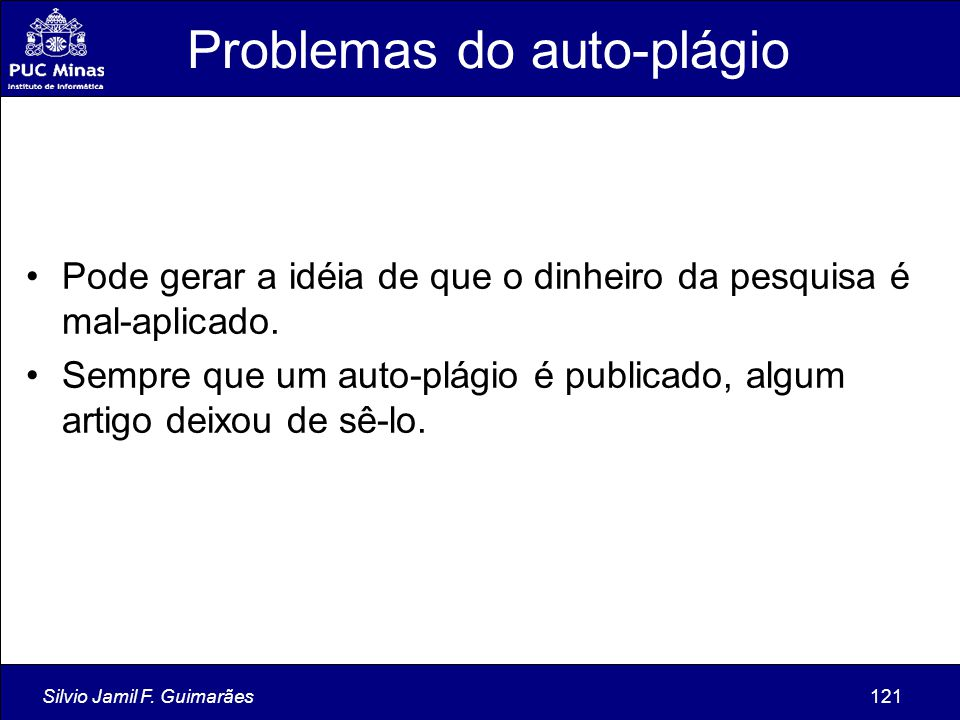 Problemas do auto-plágio