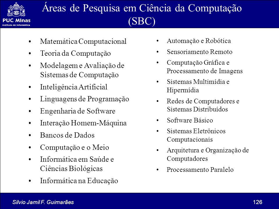 Áreas de Pesquisa em Ciência da Computação (SBC)