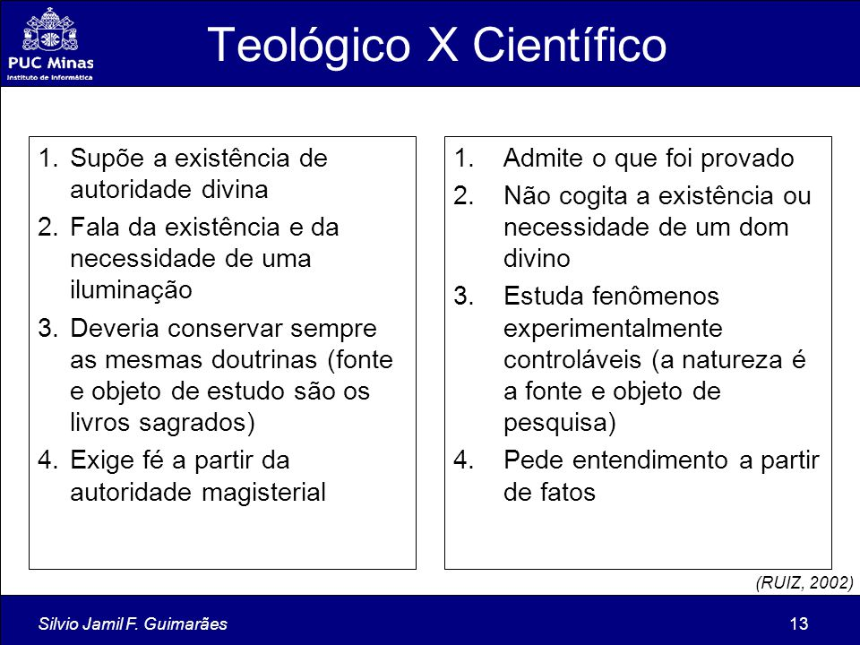Teológico X Científico
