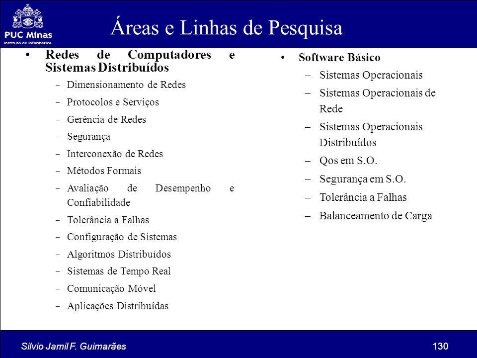 Áreas e Linhas de Pesquisa