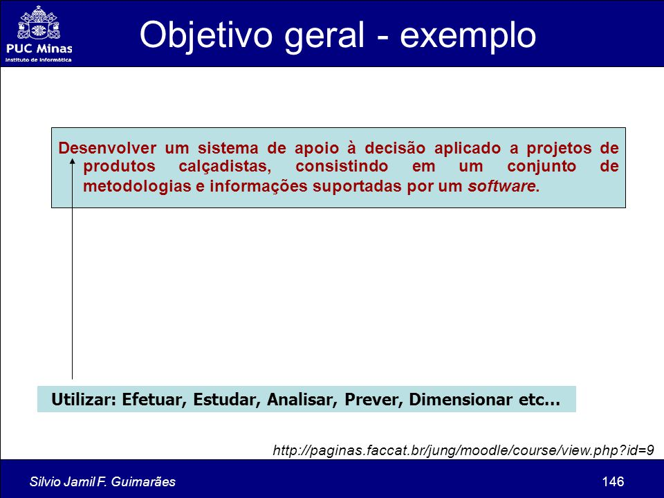 Objetivo geral - exemplo