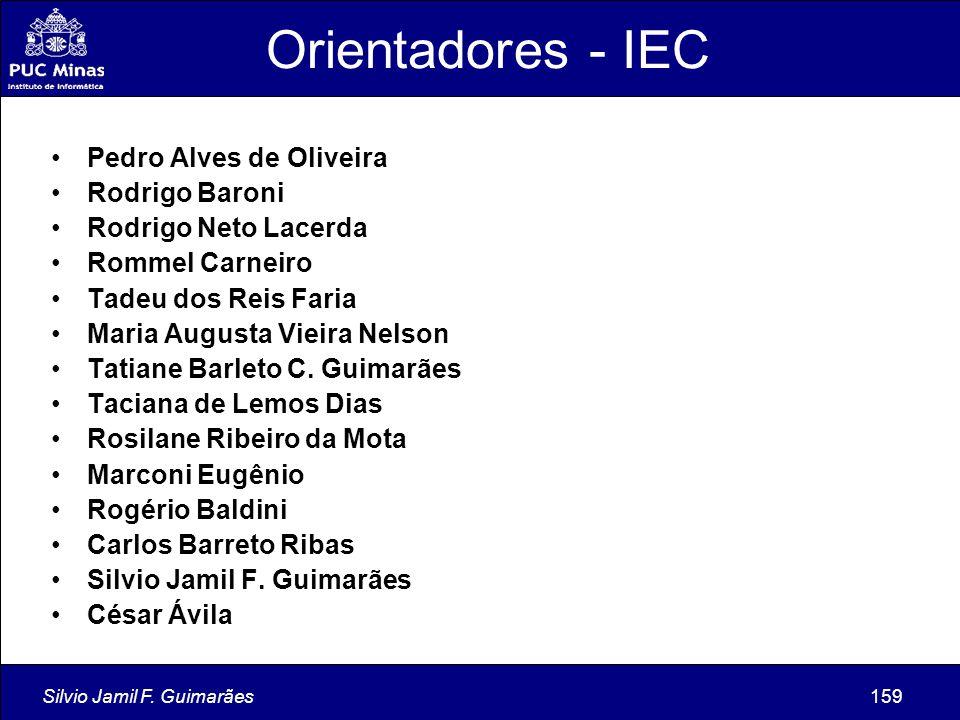 Orientadores - IEC Pedro Alves de Oliveira Rodrigo Baroni