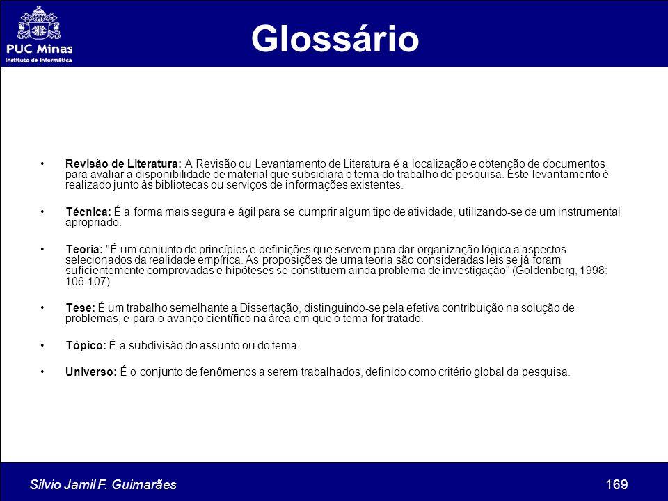 Glossário Silvio Jamil F. Guimarães