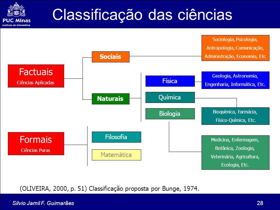 Classificação das ciências