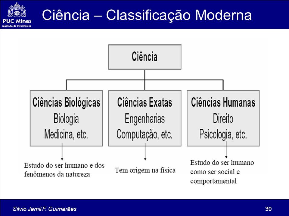 Ciência – Classificação Moderna