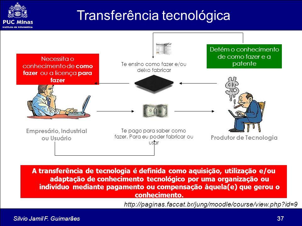 Produtor de Tecnologia Empresário, Industrial ou Usuário
