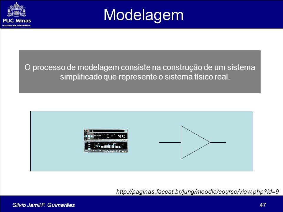Modelagem O processo de modelagem consiste na construção de um sistema simplificado que represente o sistema físico real.
