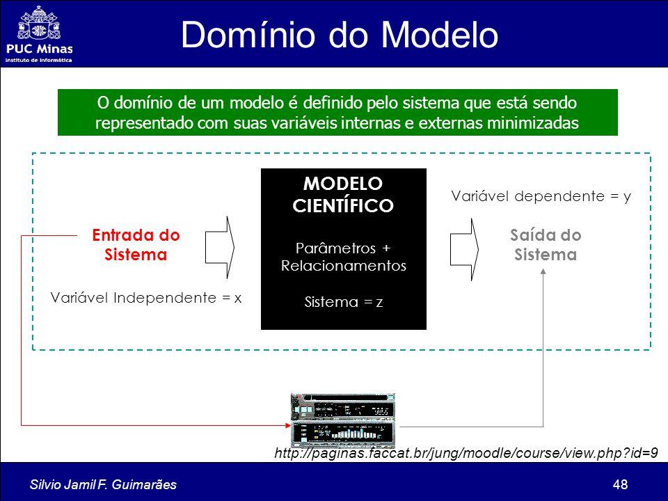 Domínio do Modelo MODELO CIENTÍFICO