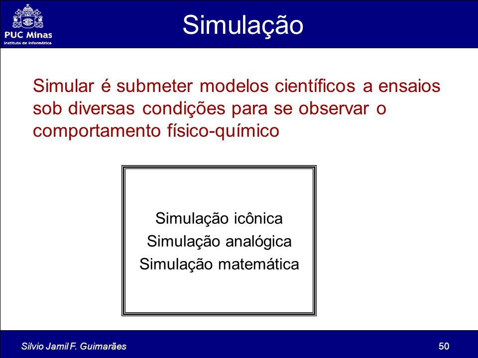Simulação Simular é submeter modelos científicos a ensaios sob diversas condições para se observar o comportamento físico-químico.