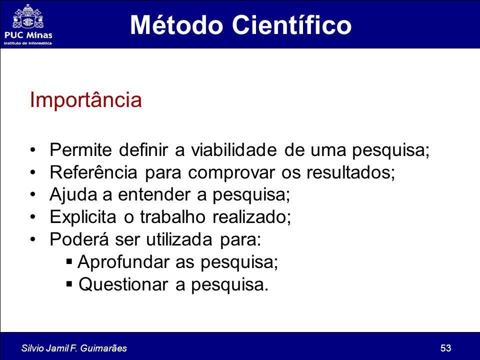 Método Científico Importância