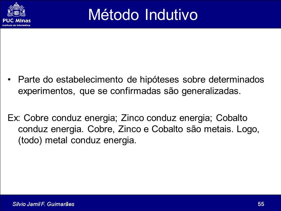Método Indutivo Parte do estabelecimento de hipóteses sobre determinados experimentos, que se confirmadas são generalizadas.