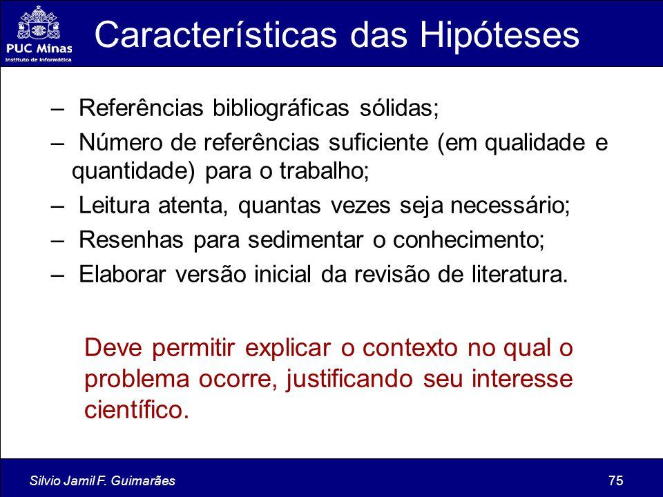 Características das Hipóteses