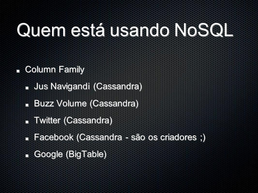 Quem está usando NoSQL Column Family Jus Navigandi (Cassandra)