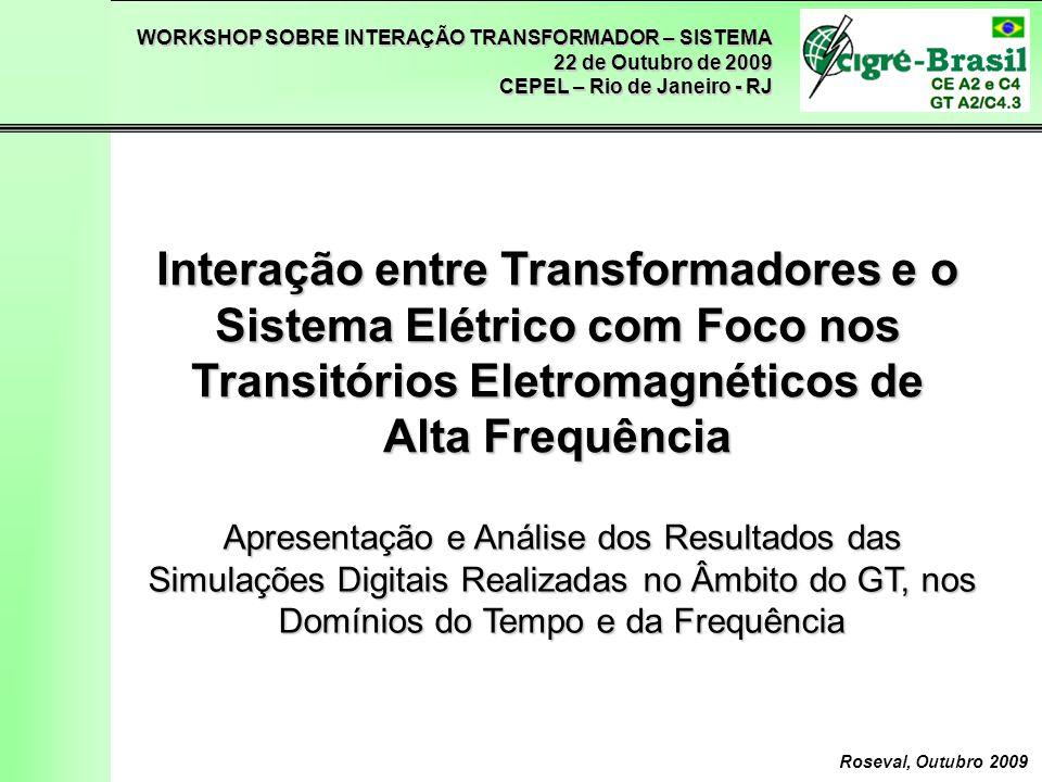 Interação entre Transformadores e o Sistema Elétrico com Foco nos Transitórios Eletromagnéticos de Alta Frequência