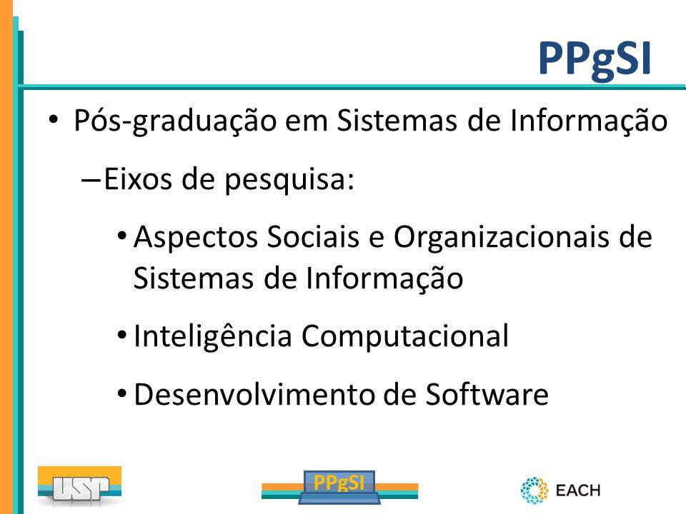 PPgSI Pós-graduação em Sistemas de Informação Eixos de pesquisa: