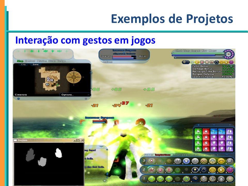 Exemplos de Projetos Interação com gestos em jogos 21