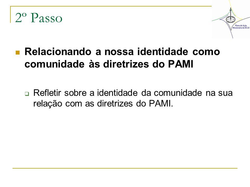 2º Passo Relacionando a nossa identidade como comunidade às diretrizes do PAMI.