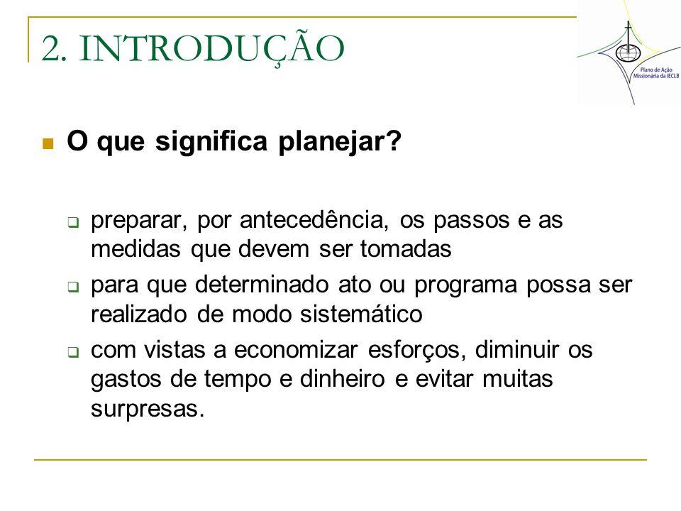 2. INTRODUÇÃO O que significa planejar