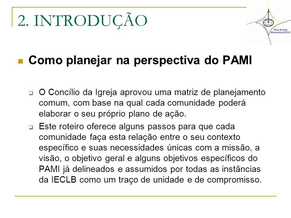 2. INTRODUÇÃO Como planejar na perspectiva do PAMI