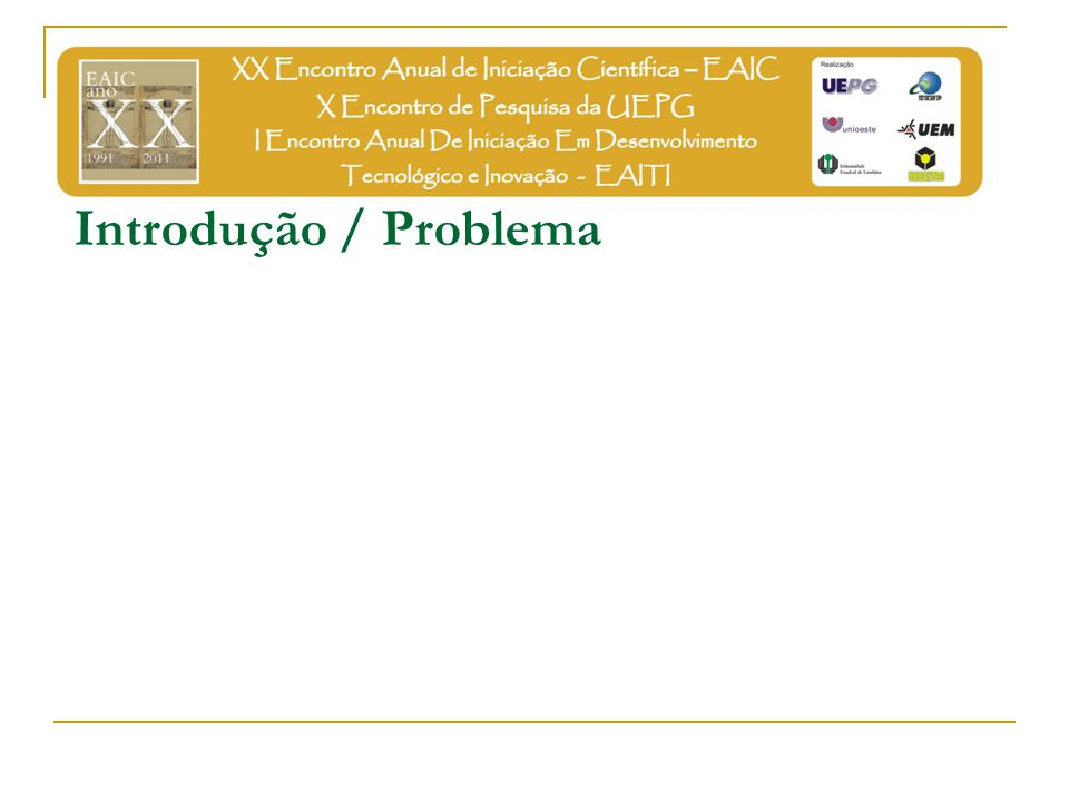 Introdução / Problema