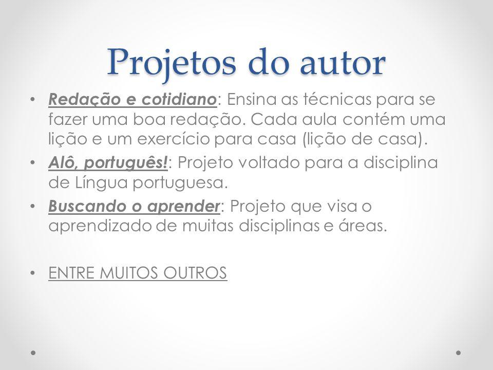 Projetos do autor