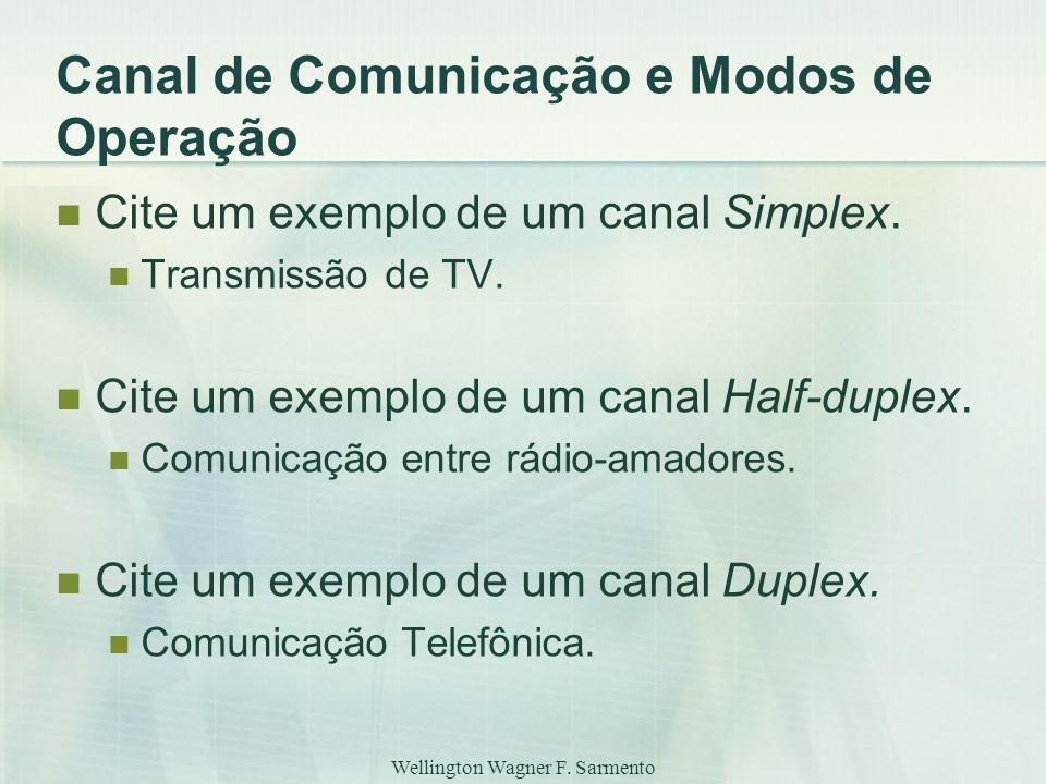 Canal de Comunicação e Modos de Operação