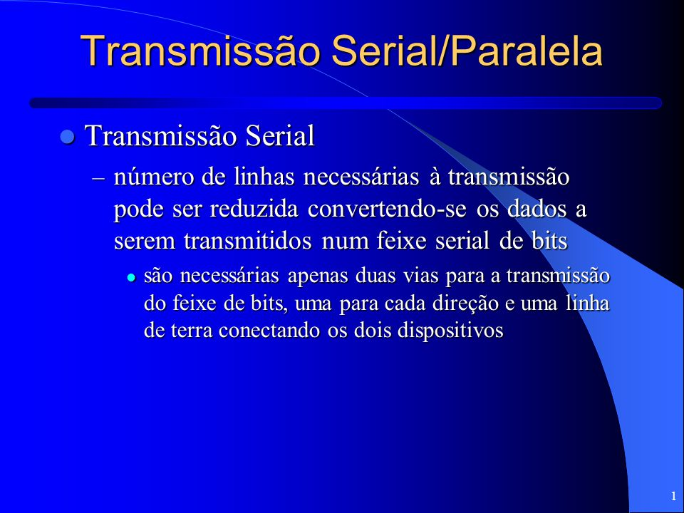 Transmissão Serial/Paralela