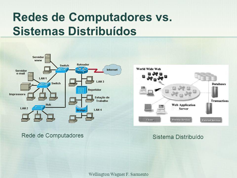 Redes de Computadores vs. Sistemas Distribuídos