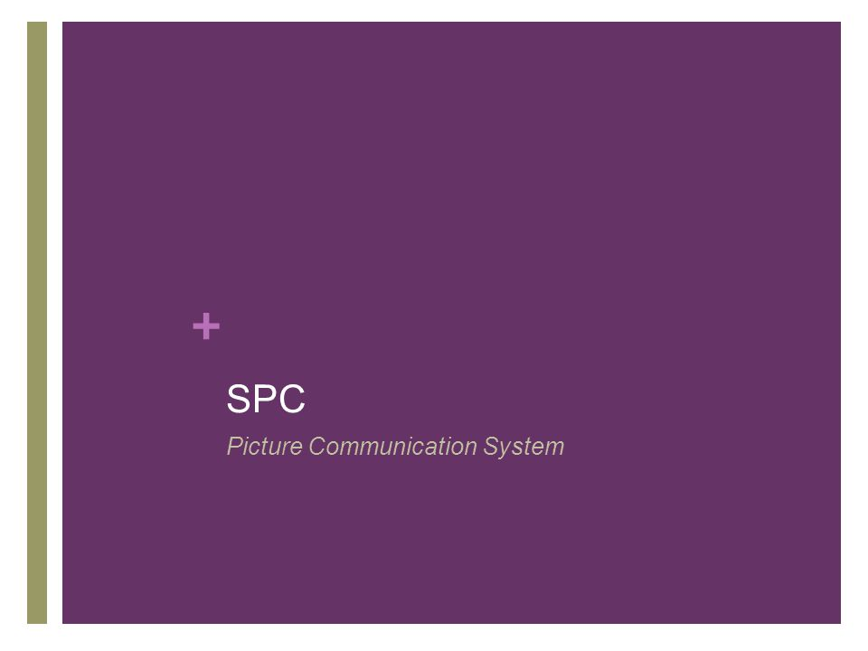 SPC Picture Communication System