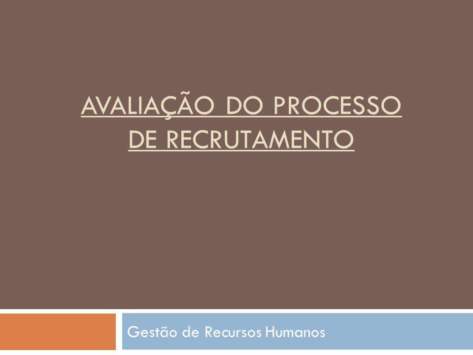 Avaliação do processo de recrutamento