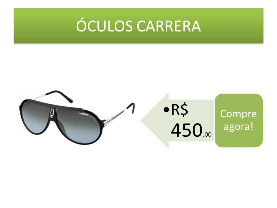 ÓCULOS CARRERA Compre agora! R$ 450,00