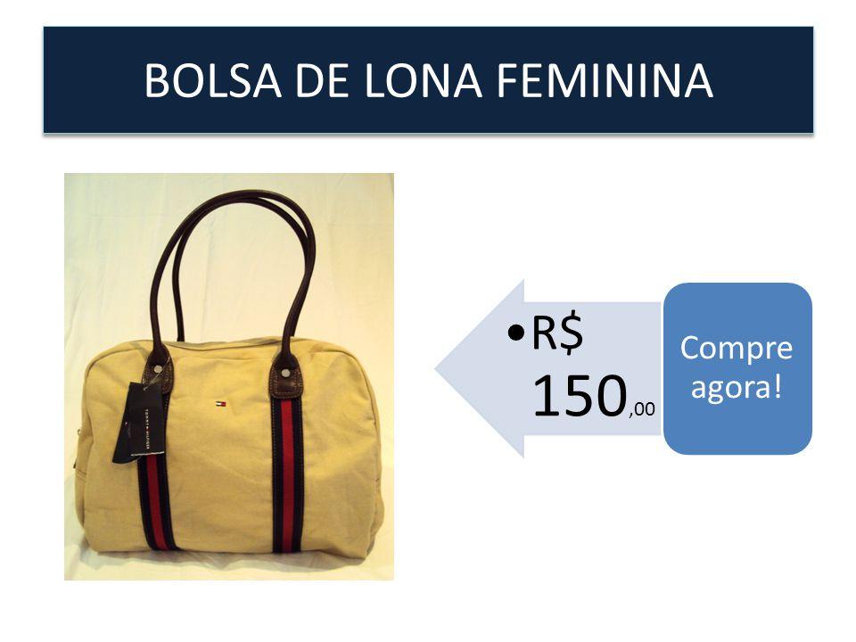 BOLSA DE LONA FEMININA Compre agora! R$ 150,00