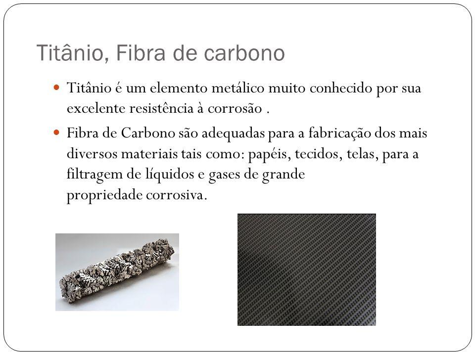 Titânio, Fibra de carbono