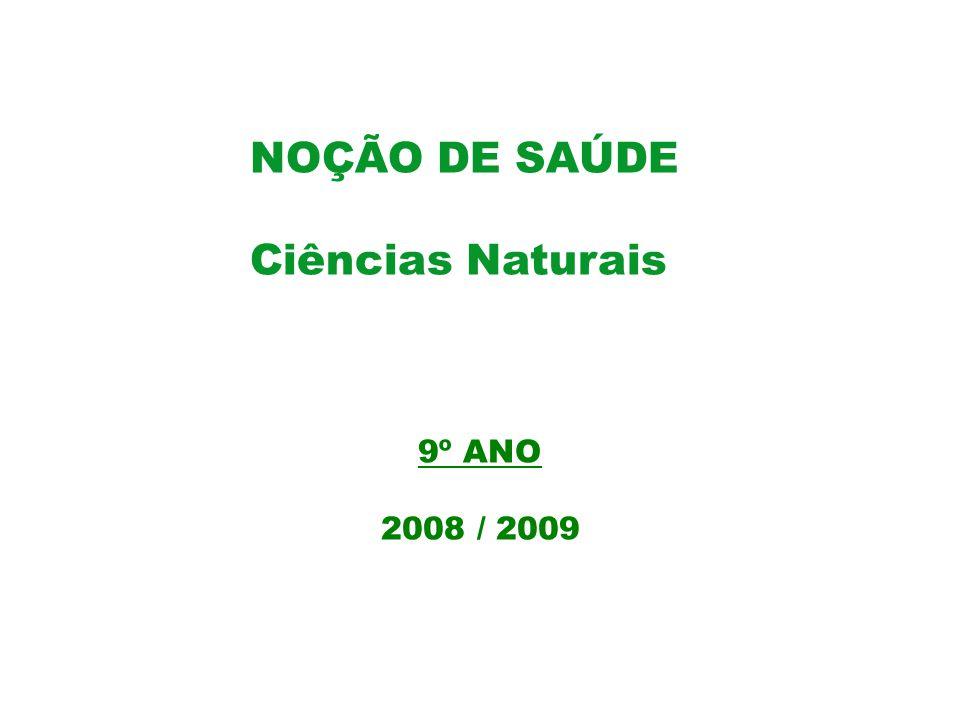 NOÇÃO DE SAÚDE Ciências Naturais