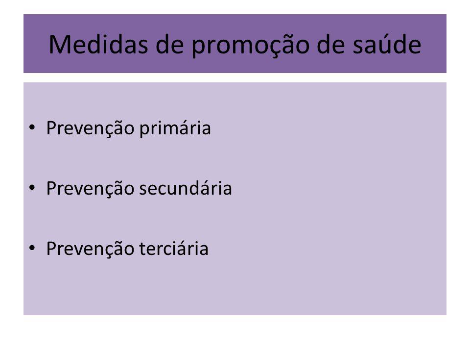 Medidas de promoção de saúde