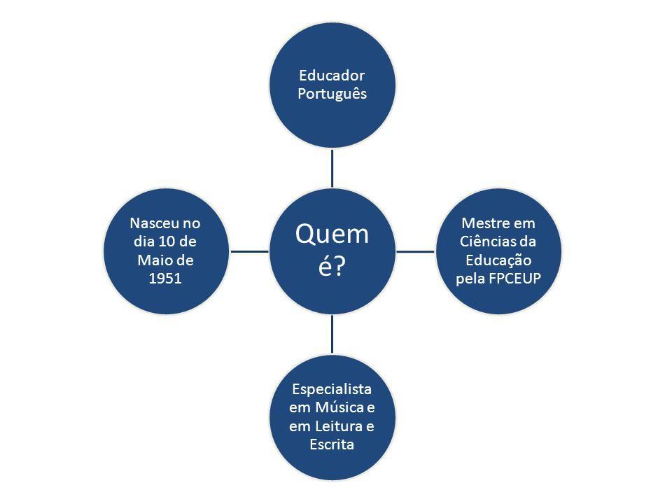 Quem é Educador Português Mestre em Ciências da Educação pela FPCEUP