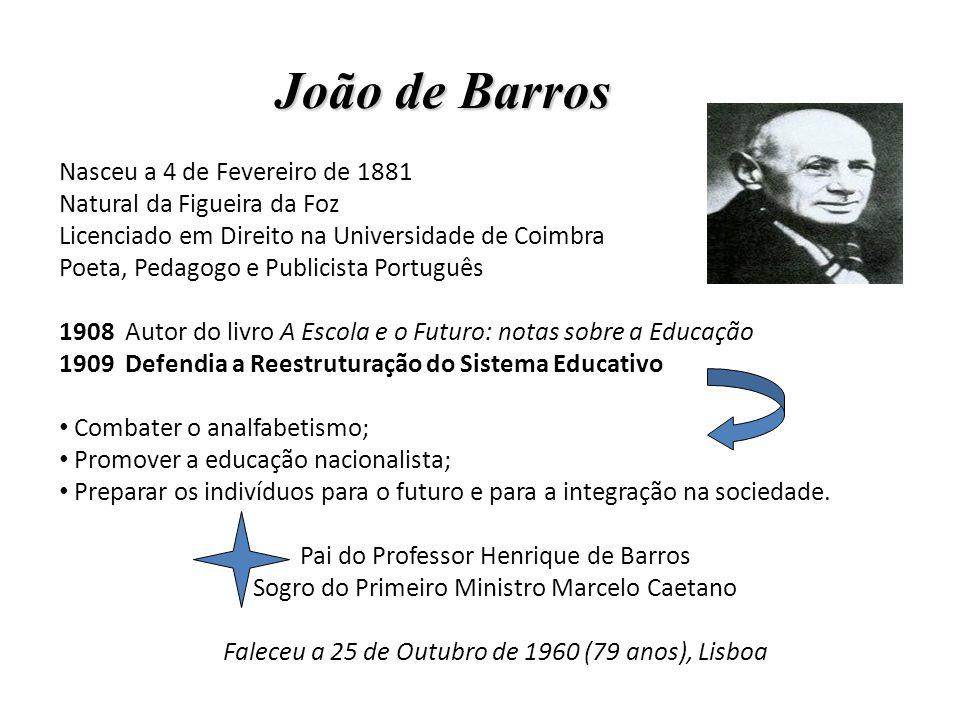 João de Barros Nasceu a 4 de Fevereiro de 1881