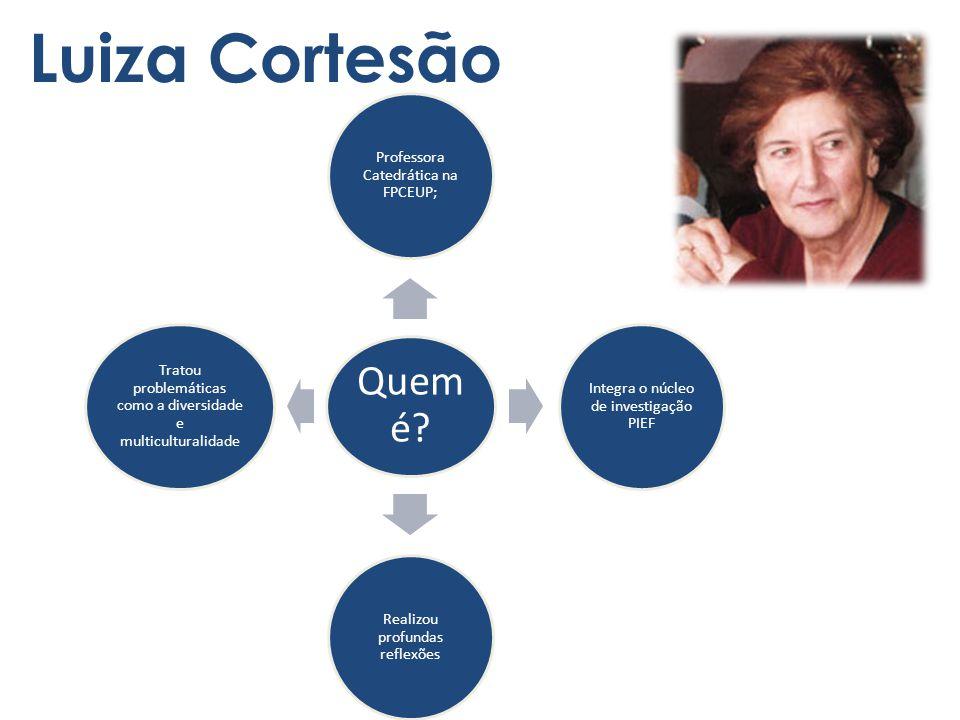 Luiza Cortesão Quem é Professora Catedrática na FPCEUP;