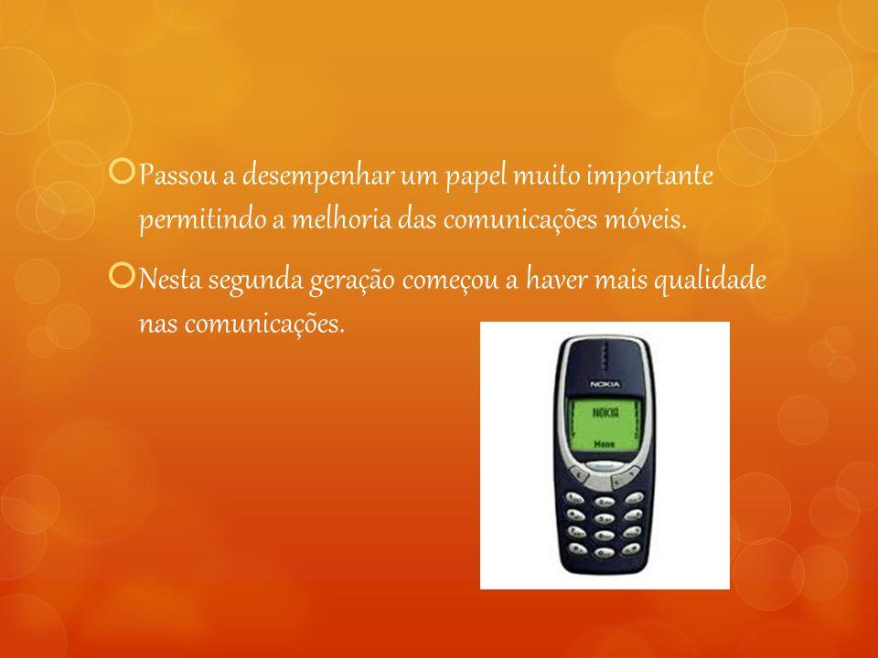 Passou a desempenhar um papel muito importante permitindo a melhoria das comunicações móveis.