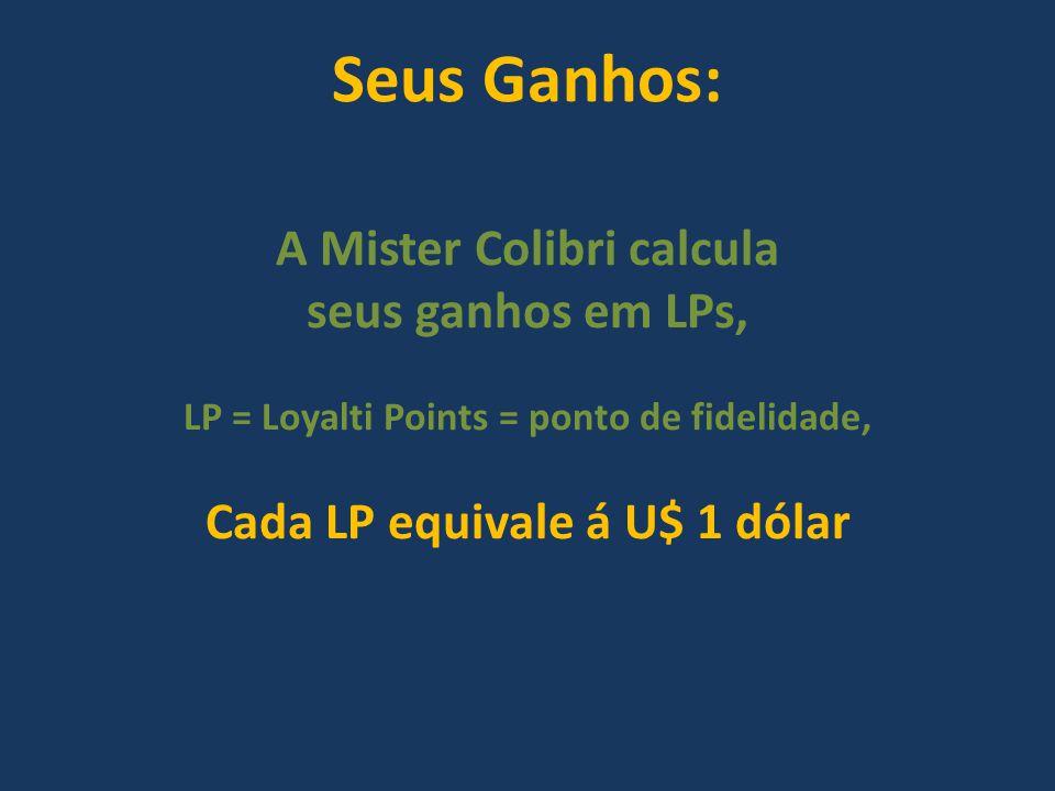 Seus Ganhos: A Mister Colibri calcula seus ganhos em LPs,