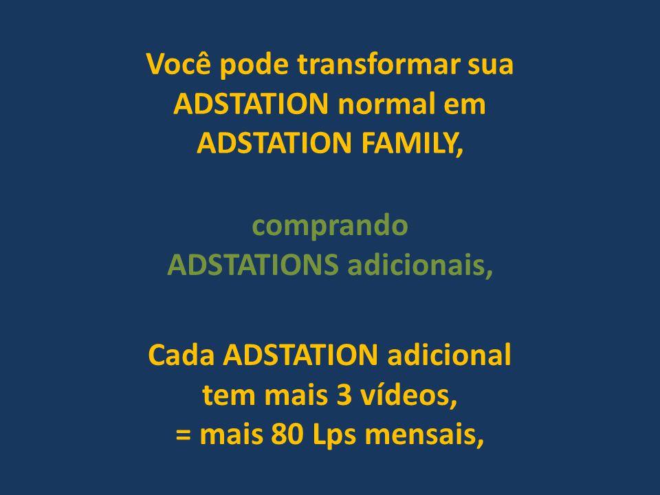 Você pode transformar sua ADSTATION normal em ADSTATION FAMILY,