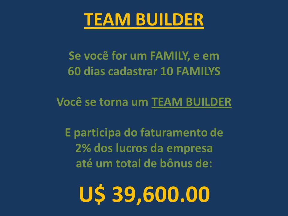 U$ 39,600.00 TEAM BUILDER Se você for um FAMILY, e em